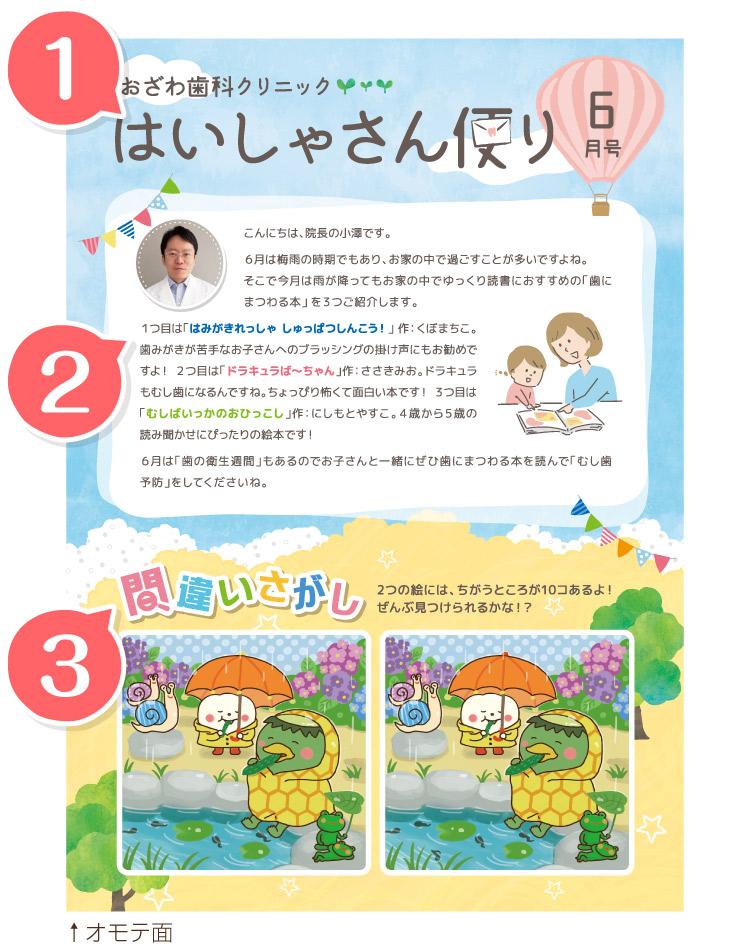 東京歯科経営ラボの小児歯科 小児用ニュースレター 間違い探し