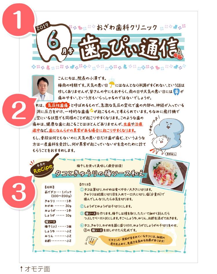 東京歯科経営ラボの一般歯科 大人用ニュースレター レシピ